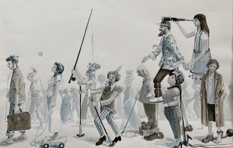 Walkers In Blue artwork
